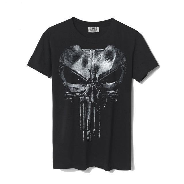 Skull Punisher Black T-shirt