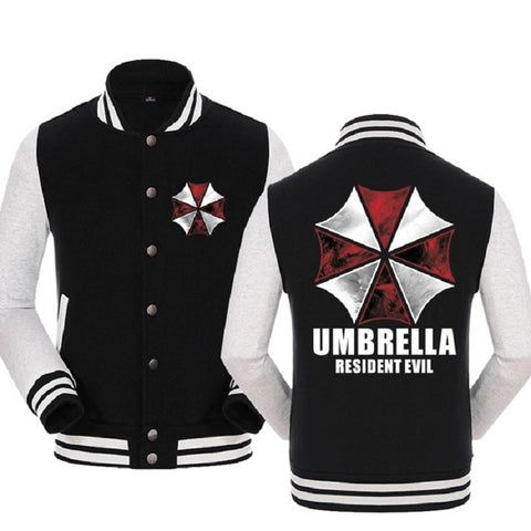Image of Resident Evil Umbrella Corporation Baseball Uniform Hoodie Jacket