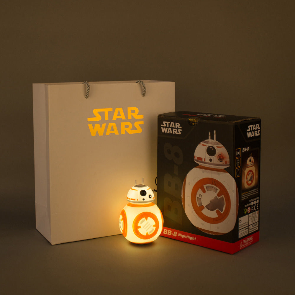 NEW 13cm Star Wars The Last Jedi BB8 BB-8 Night light eyecare USB charging Droid Robot model action figure toy
