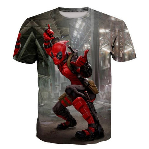Image of Deadpool Print 3D T-Shirts