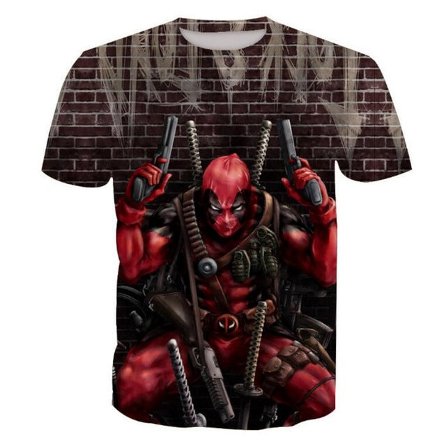 Deadpool Print 3D T-Shirts