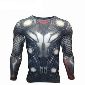 Thor 3D Printed Compression T-shirt