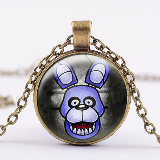 6 Styles Five Nights At Freddy's Necklace Action Figure Toys