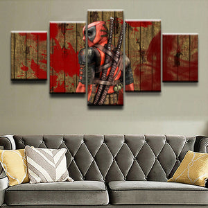 Deadpool Canvas Print 5 Pieces Poster