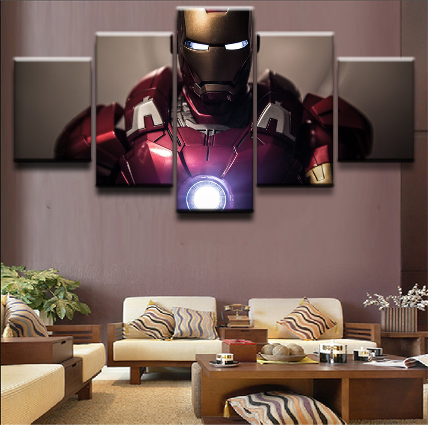 Iron Man Canvas 5  Pieces Canvas poster