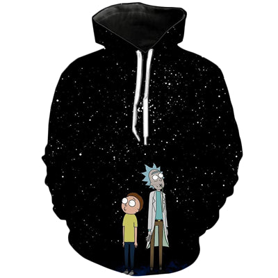 Rick and morty Brand 3D hoodie