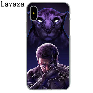 Black Panther Hard Phone Case for Apple iPhone X 10 7 6 6s 8 Plus 4 4S 5 5S SE 5C
