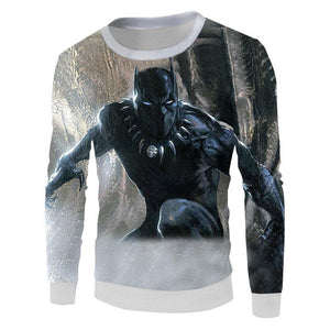 Black Panther 3D Printed Long Sleeve
