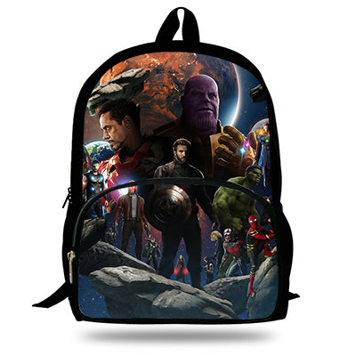Avengers Infinity War Printing Cartoon Children School Bags
