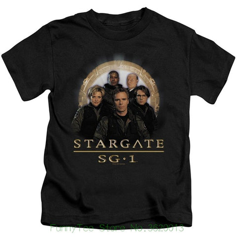 Image of Stargate Sg - 1 Sci - fi Television Series Team Little Boys Juv Black T-shirt