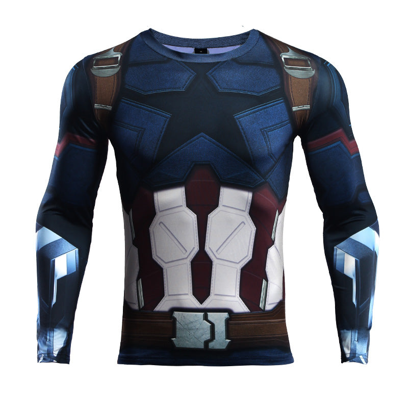 Infinity War Captain America Compression Shirt