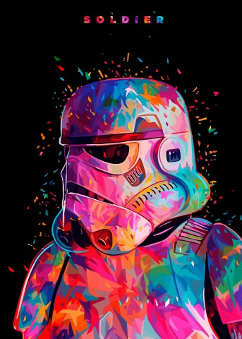 Star Wars Print Canvas Poster