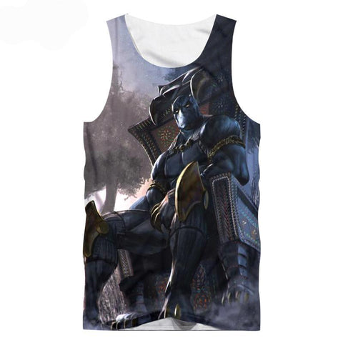 Image of Black Panther Printed 3D Tank Top