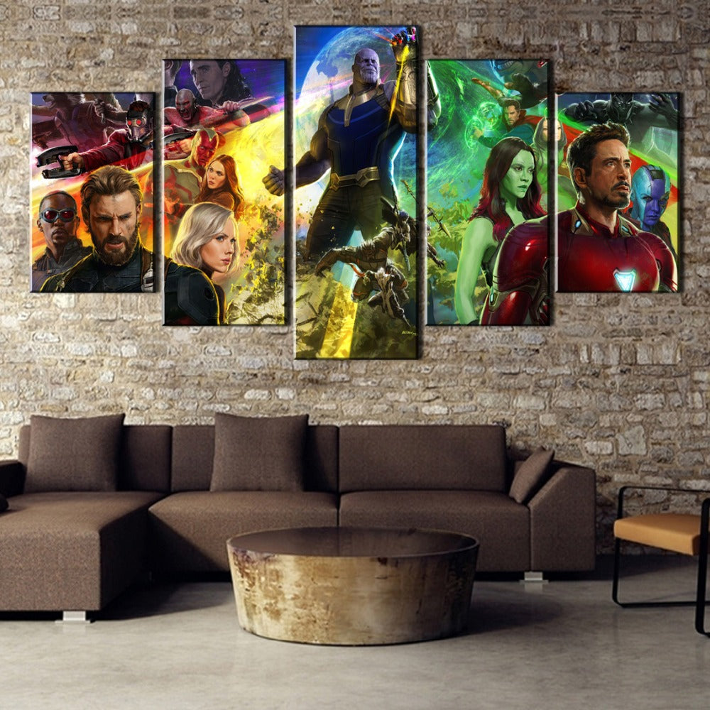 Avengers Infinity War Movie Canvas Printed Painting 5 Pieces Poster