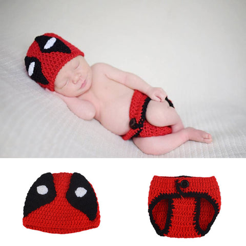 Image of 0-3 months Deadpool baby costume suits