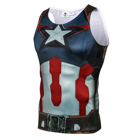 Image of Batman SpiderMan Superman Printed Bodybuilding Unisex Fitness Tank Top
