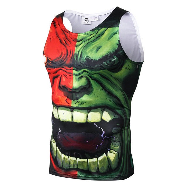 Batman SpiderMan Superman Printed Bodybuilding Unisex Fitness Tank Top