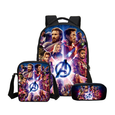 Image of Avengers Infinity War Super Hero Captain America Prints 3D Bag  Backpacks