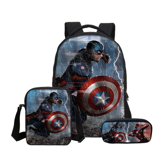 Avengers Infinity War Super Hero Captain America Prints 3D Bag  Backpacks