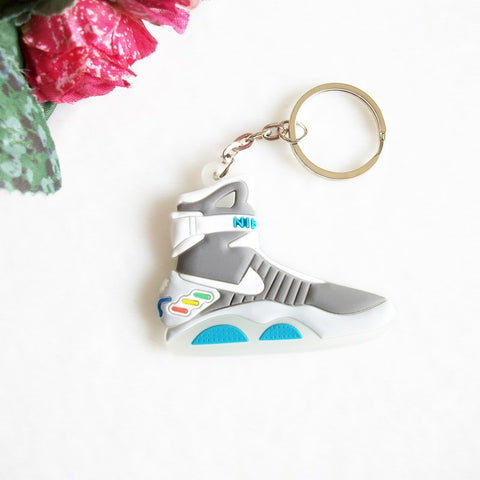 Image of Back To The Future II Glow In The Dark Air Mag Shoes Keychain