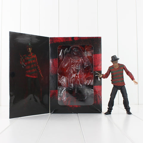 19cm NECA Horror Film A Nightmare on Elm Street Freddy Krueger 30th PVC Action Figure Model Toys Doll
