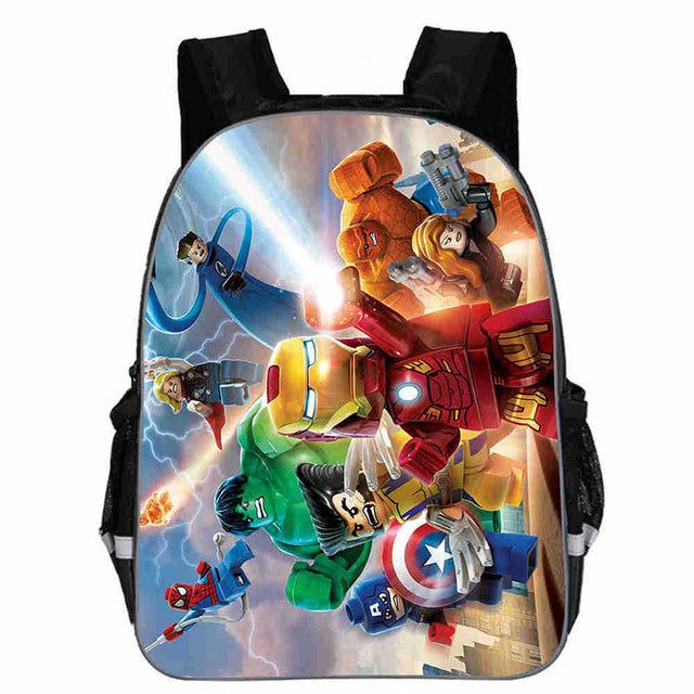 13 Inch Avengers Iron Man Captain America Hulk Thor War School Bags Backpacks