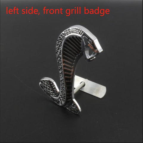 2 Pieces 3D metal car Snake Cobra logo