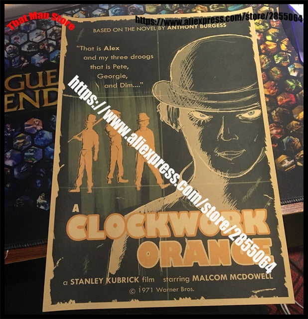 A Clockwork Orange Classic Movie Poster