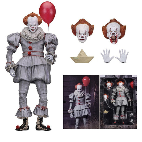 18cm 7inch Neca Stephen King's It Pennywise Joker Clown PVC Action Figure Toys