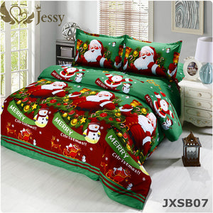 For Merry Christmas Christmas Gift Set 4Pcs Christmas Santa Clause 3D Bedding Set Duvet Cover Bed Sheet Pillowcase Sham Covers