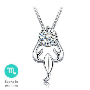 12 Constellations Crystal Necklace