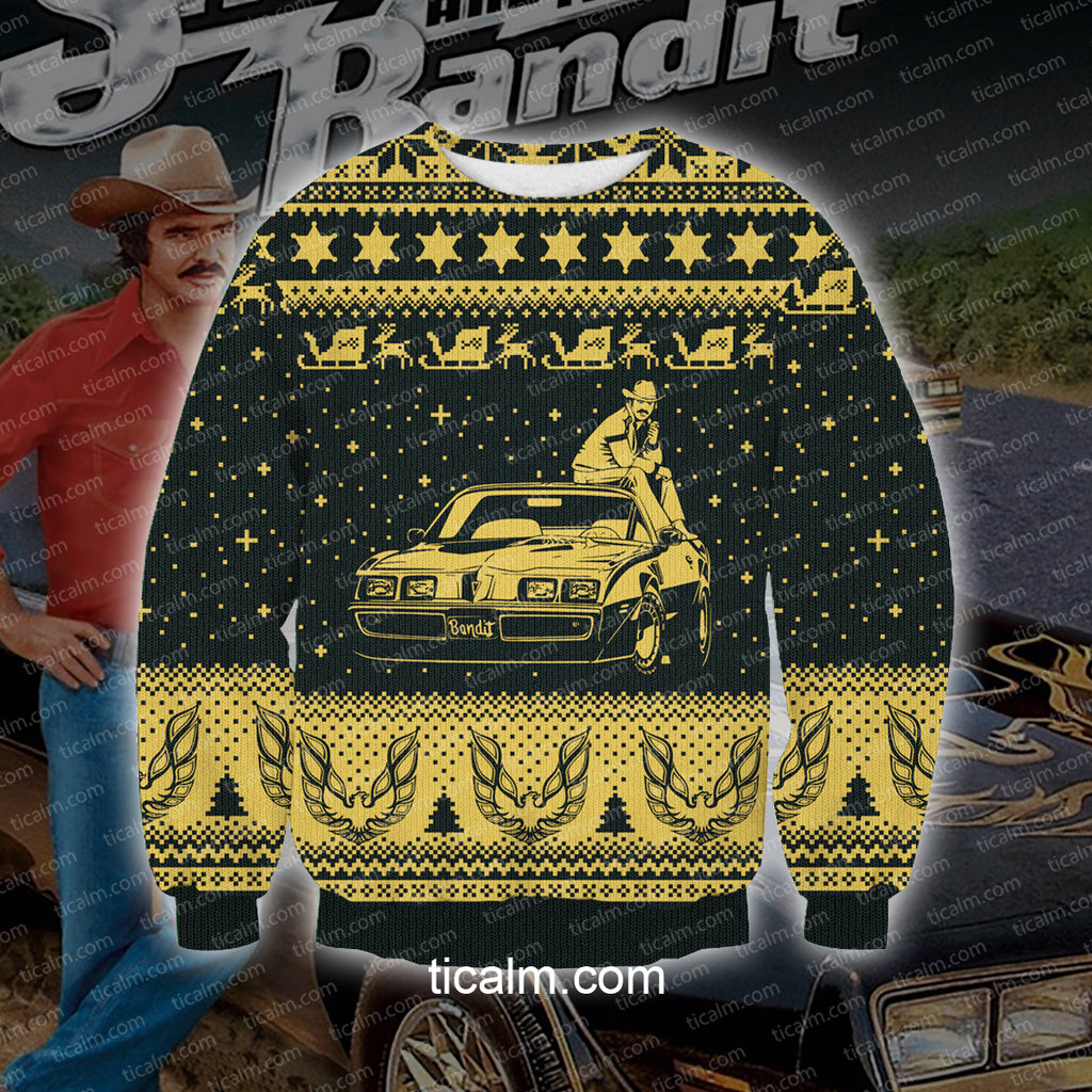 Smokey And The Bandit Knitting Pattern All Over Print Ugly