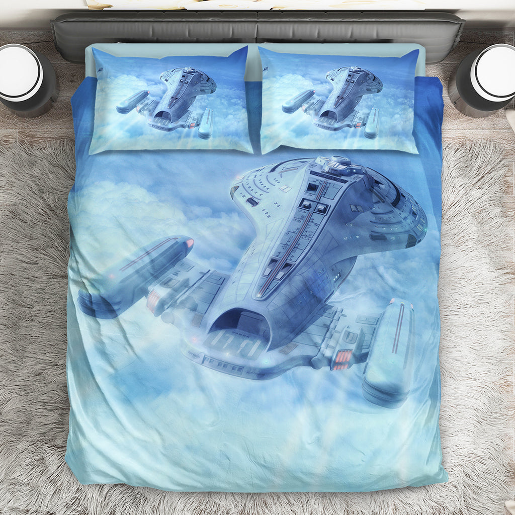 Star Trek Spaceships Bed Set V3