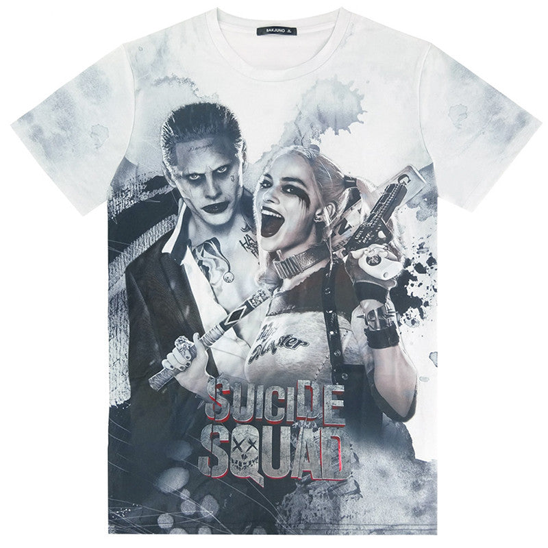 Suicide Squad Joker Harley Quinn All Over Print 3D T-shirt
