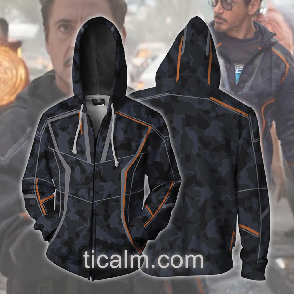 Avengers: Infinity War Tony Stark Zip Up Hoodie