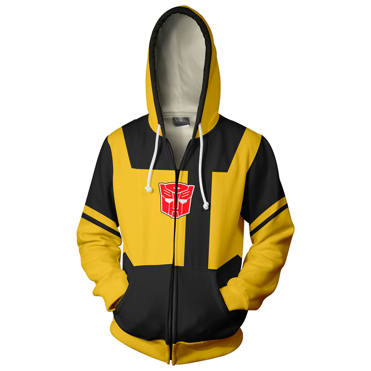 Transformers Bumblebee Zip Up Hoodie