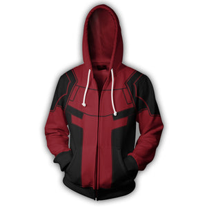 Deadpool Zip Up Hoodie