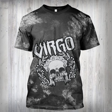 Image of VIRGO MAN - SYMBOL ON BACK - ZODIAC T- SHIRT