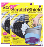 2 x Scratch Shield Adjustable Car Wash Bucket Filters (Black) Bucket filters Scratch Shield