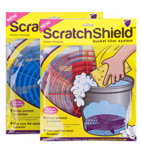 2 x Scratch Shield Adjustable Bucket Filters (Blue & Red) Bucket filters Scratch Shield