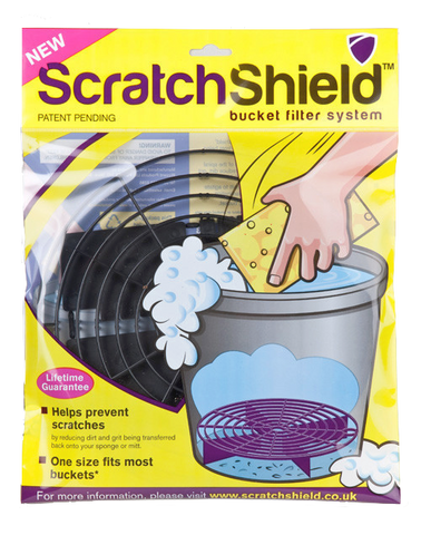 Scratch Shield Adjustable Car Wash Bucket Filters (Black)