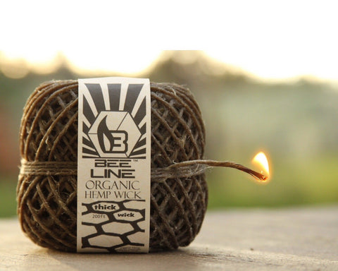 Bee Line Hemp Wick - Thick Wick Spool
