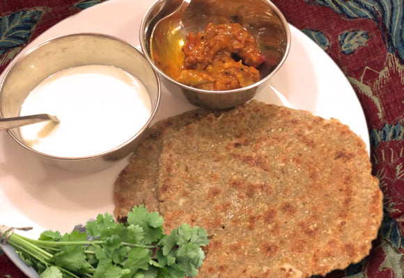 Bio-Oz buckwheat flour and cauliflower Parantha - gluten-free recipe