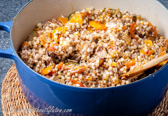 Bio-Oz Buckwheat with Chicken and Vegetables – Easy One Pot Meal Gluten-Free
