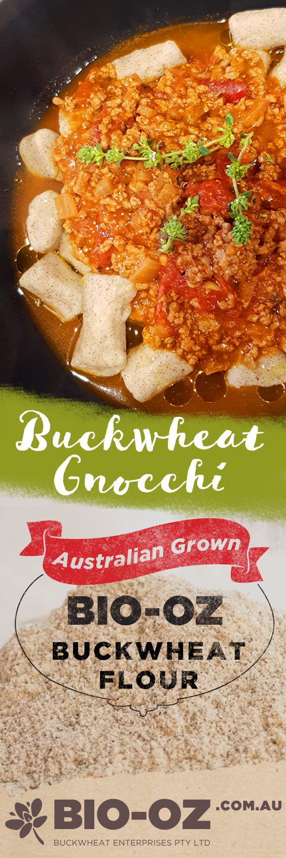 Gluten free Gnocchi made with Bio-Oz Buckwheat