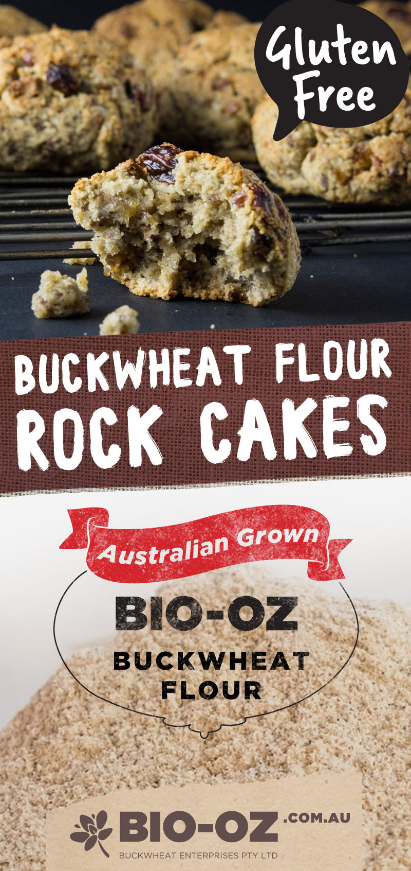 Bio-Oz Rock Cakes (Gluten and Dairy free)