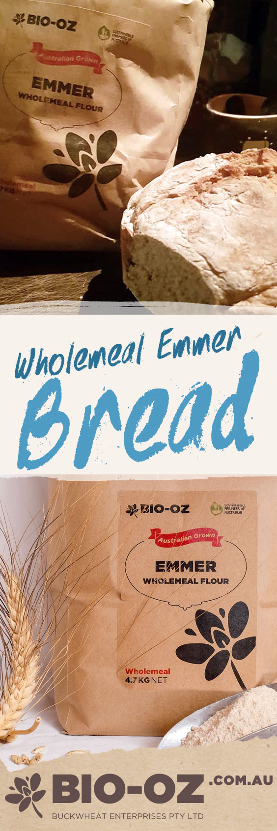 BIO-OZ WHOLEMEAL FLOUR RECIPE