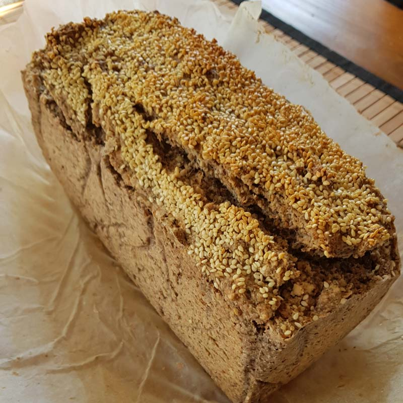 Sprouted Buckwheat Mixed Nuts Bread
