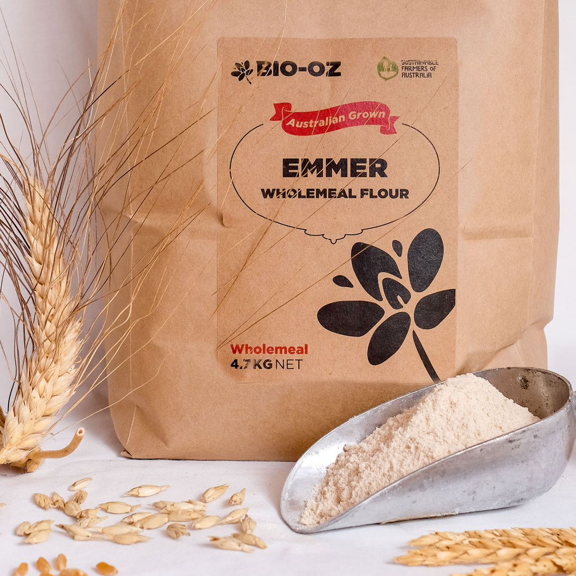 Bio-Oz Emmer WHOLEMEAL Flour 4.7kg Australian grown