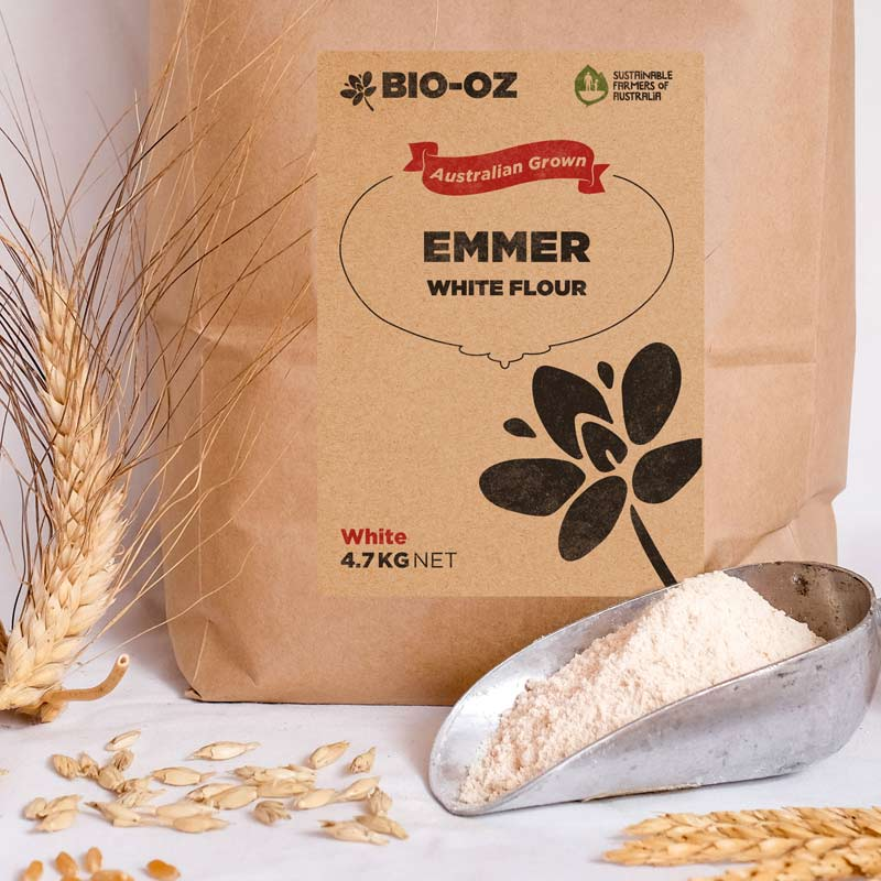 Bio-Oz Emmer WHITE Flour 4.7kg Australian grown